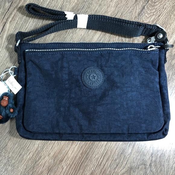 7a8edf71035 Kipling Bags | Womens Mikaela True Blue Crossbody Bag | Poshmark